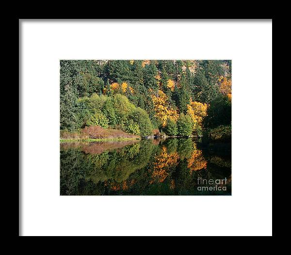 Fall Framed Print featuring the photograph Final Reflection by Larry Keahey
