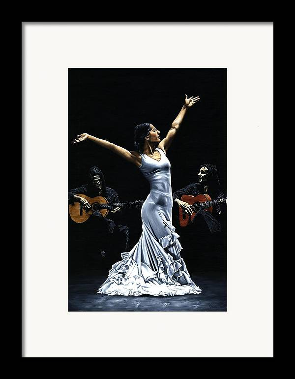 Flamenco Framed Print featuring the painting Finale Del Funcionamiento Del Flamenco by Richard Young