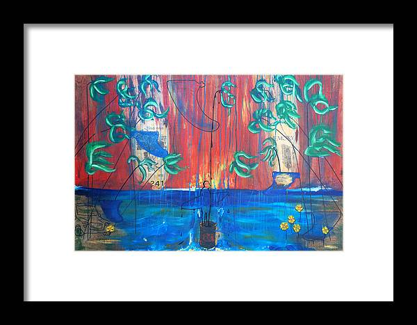 Fin Framed Print featuring the painting Find One Memory See Imperfection by Nathan Paul Gibbs