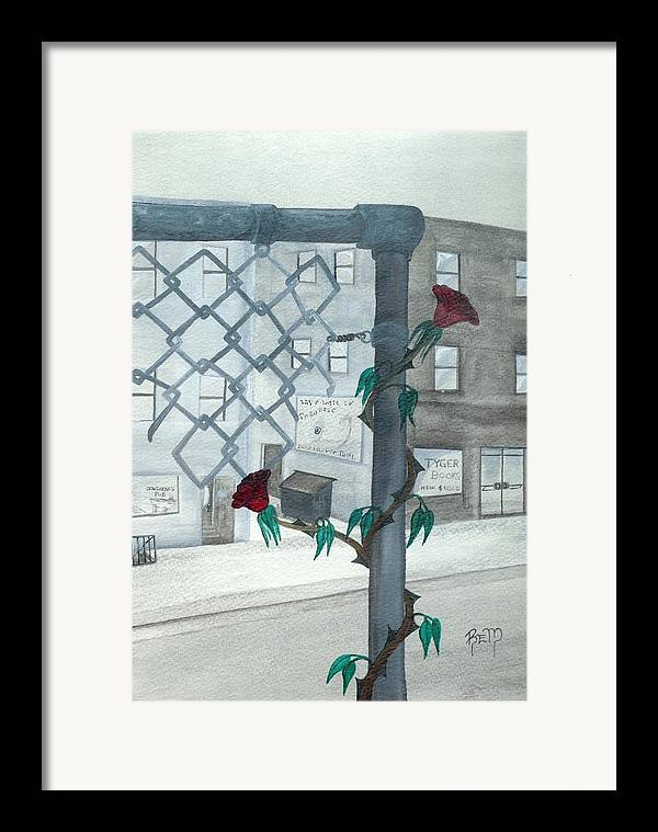 Watercolor Framed Print featuring the painting Finding Beauty by Robert Meszaros