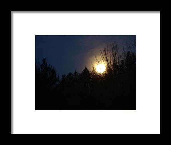 Early Moring Moon Framed Print featuring the photograph Finding Peace by Lisa Rose Musselwhite