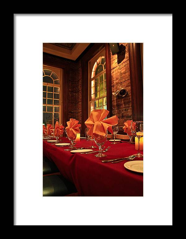 Dining Framed Print featuring the photograph Fine Dinning by Larry Underwood