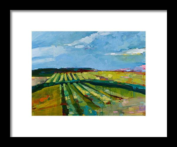 Landscape Framed Print featuring the painting Fine Fields by Michele Norris