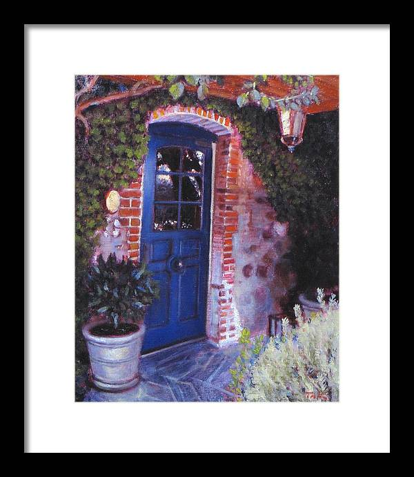 Landscape Framed Print featuring the painting Fine French Restraunt French Laundry With Rosemary by Takayuki Harada