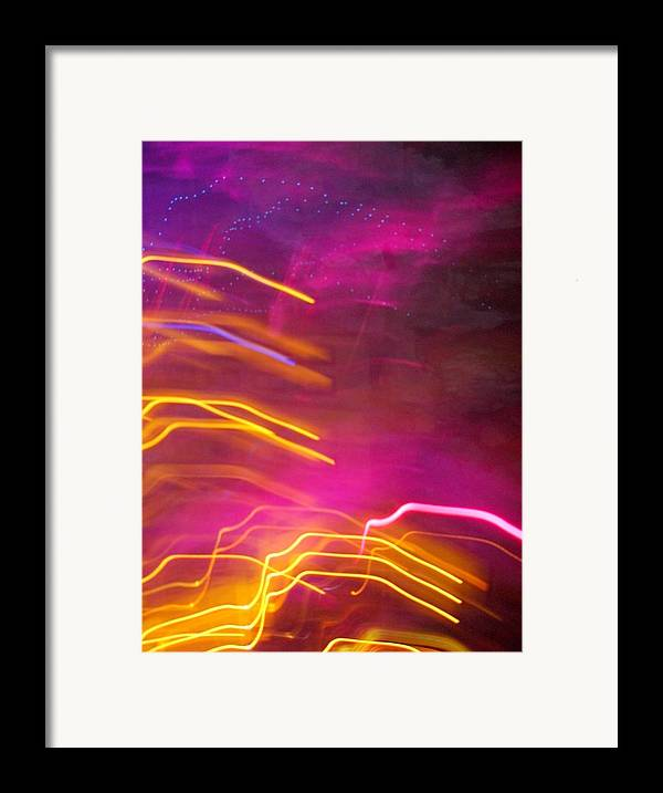 Abstract Framed Print featuring the photograph Fingers Of Light by Lessandra Grimley