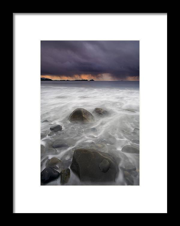 Storm Framed Print featuring the photograph Fingers Of The Storm by Mike Dawson