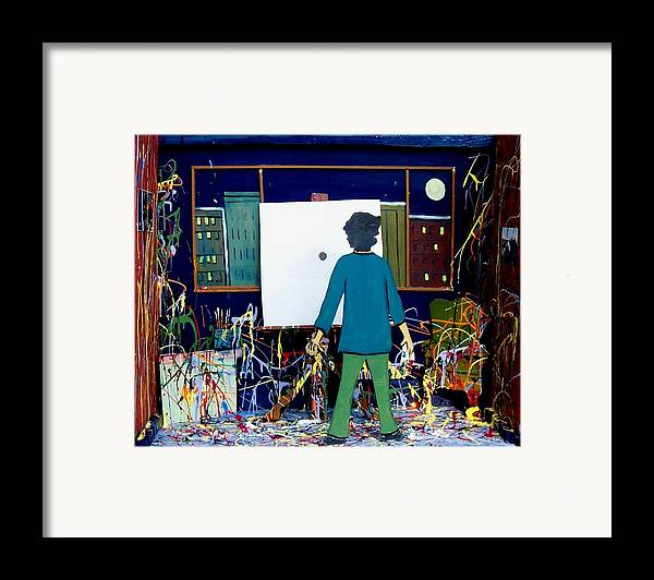 Art Framed Print featuring the relief Finished by Richard Hubal