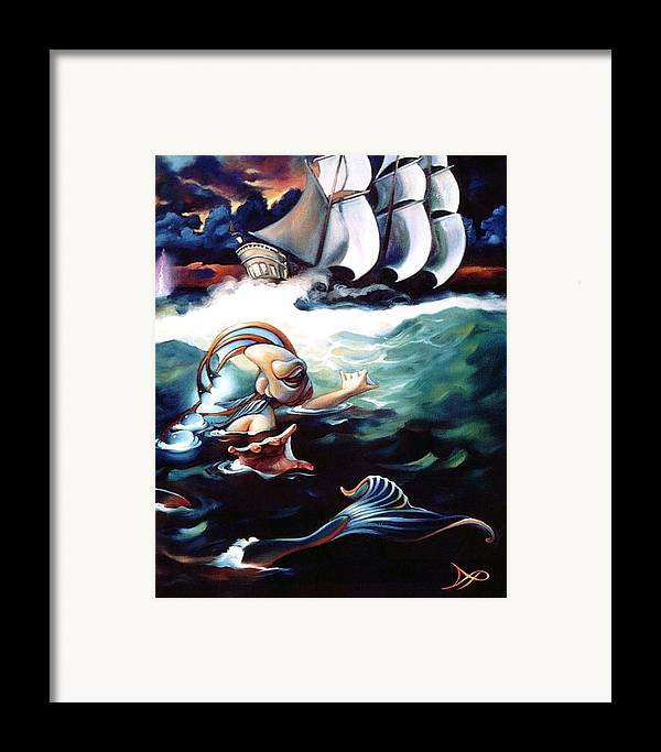 Seafarer Framed Print featuring the painting Finnegan's Quest by Patrick Anthony Pierson