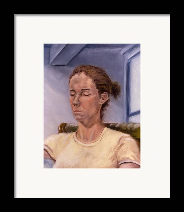 Female Framed Print featuring the painting Fiona by John Clum