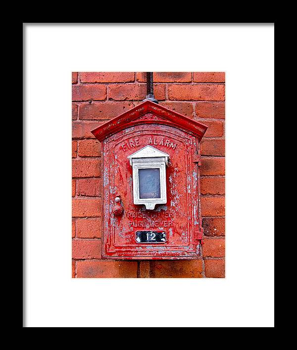 Fire Box Framed Print featuring the photograph Fire Alarm Box No. 12 by Richard Mansfield