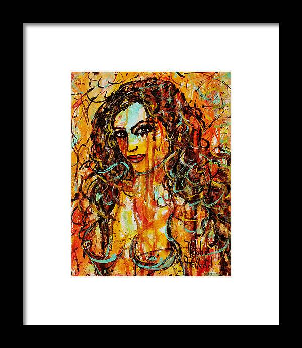 Expressionism Framed Print featuring the painting Fire And Desire by Natalie Holland