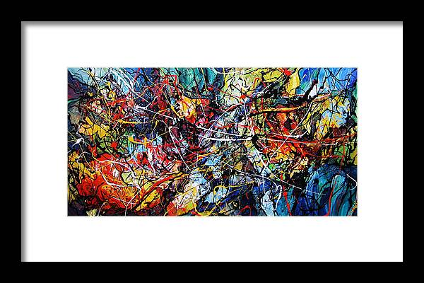 Original Framed Print featuring the painting Fire And Ice by Eugenia Mangra