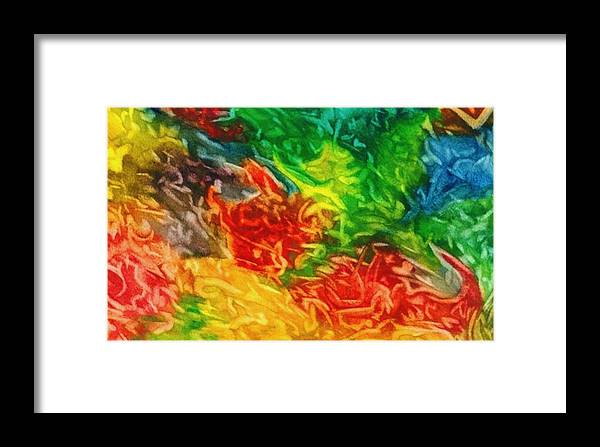 Abstract Framed Print featuring the painting Fire And Ice by Katina Cote