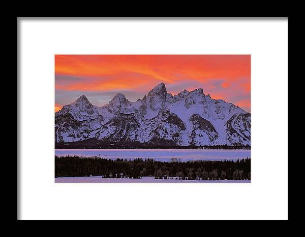 Sunset Framed Print featuring the photograph Fire And Ice by Stephen Vecchiotti