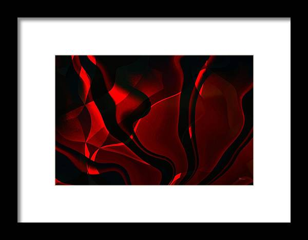 Black Framed Print featuring the digital art Fire And Smoke by Max Steinwald