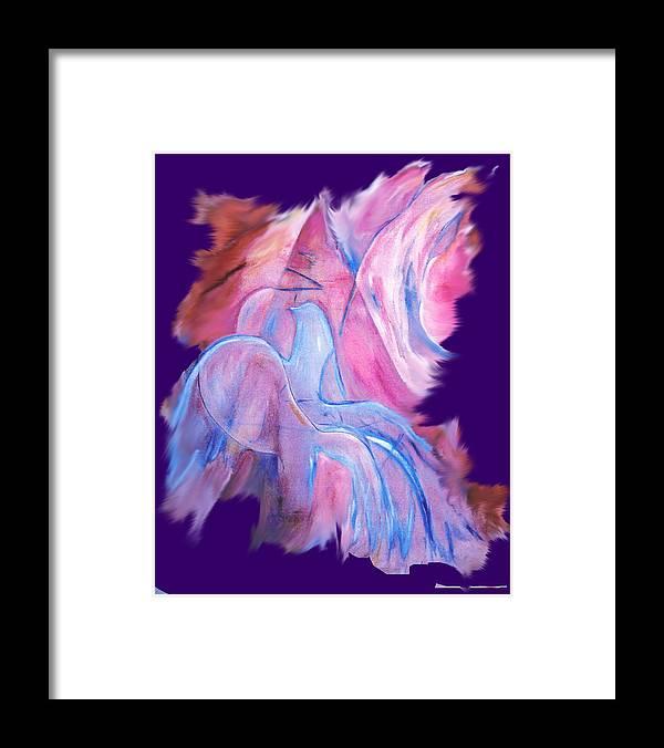 Spirit Framed Print featuring the digital art Fire Bird Digital by Gladiola Sotomayor