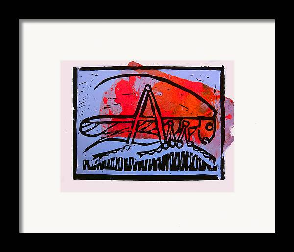 Cricket Framed Print featuring the mixed media Fire Cricket by Adam Kissel
