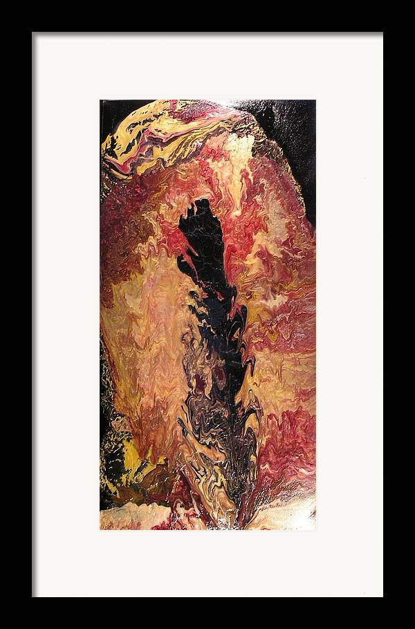Abstract Framed Print featuring the painting Fire - Elemental Spirit by Patrick Mock
