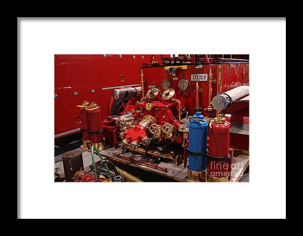Event Framed Print featuring the photograph Fire Engine Of Old 17 by Scott Westlake
