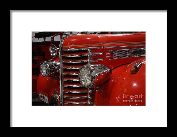 Event Framed Print featuring the photograph Fire Engine Of Old 5 by Scott Westlake