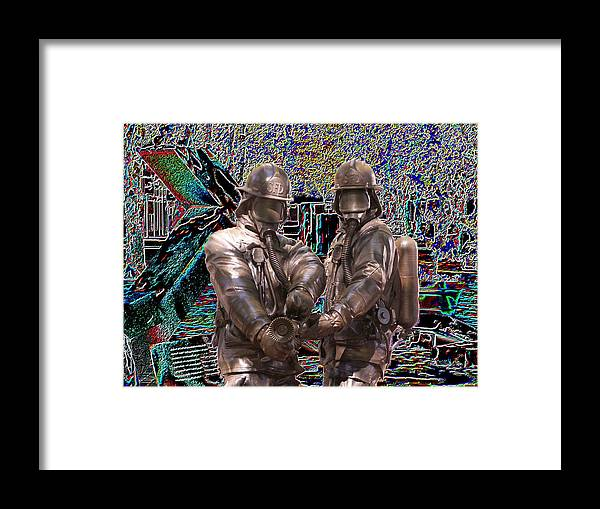 Fire Fighter Framed Print featuring the photograph Fire Fighters Memorial Seattle by Tim Allen