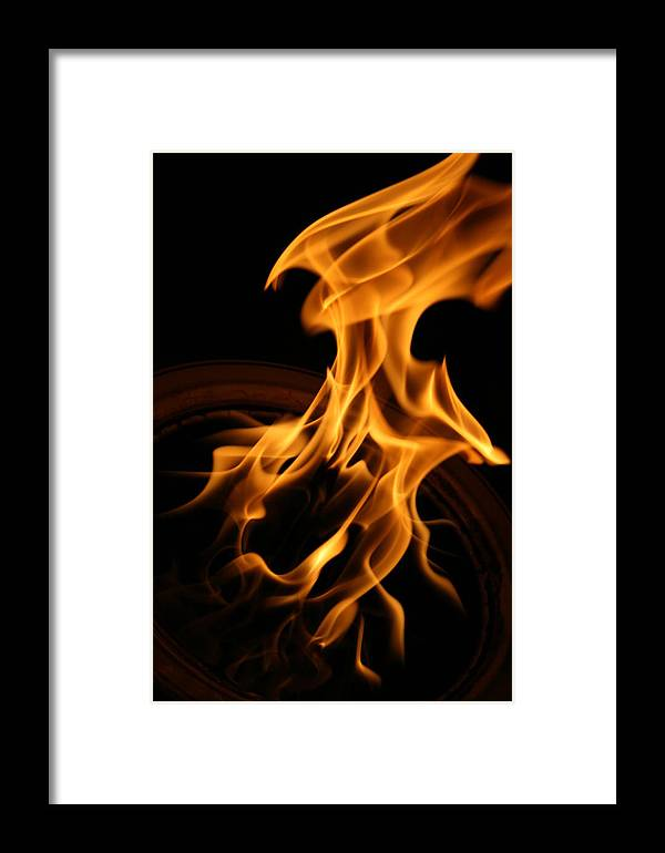 Fire Framed Print featuring the photograph Fire Flight by Joshua Sunday