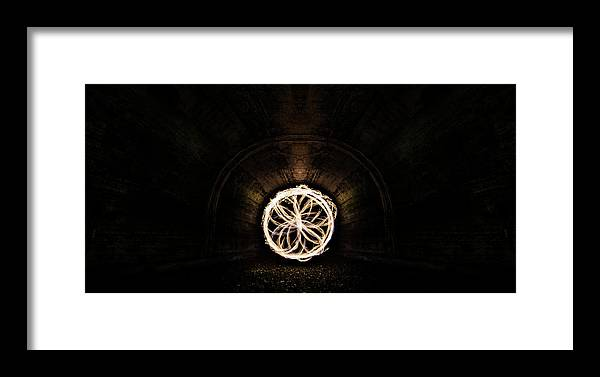 Flower Framed Print featuring the photograph Fire Flower Tunnel by Pelo Blanco Photo