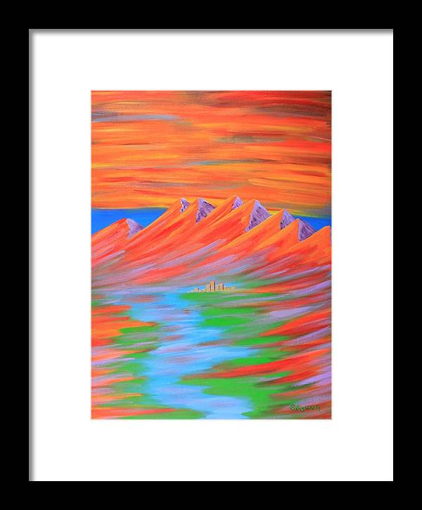 Fire Framed Print featuring the painting Fire by Gary Rowell