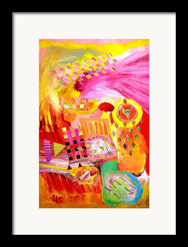 Acrylic Framed Print featuring the painting Fire In My Heart by Eric Devan