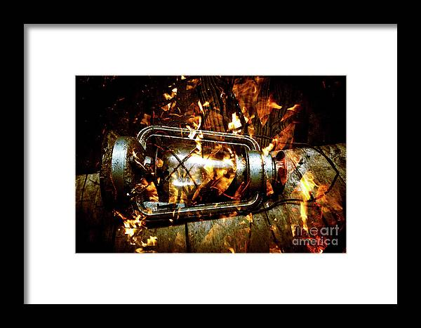 Lantern Framed Print featuring the photograph Fire In The Hen House by Jorgo Photography - Wall Art Gallery