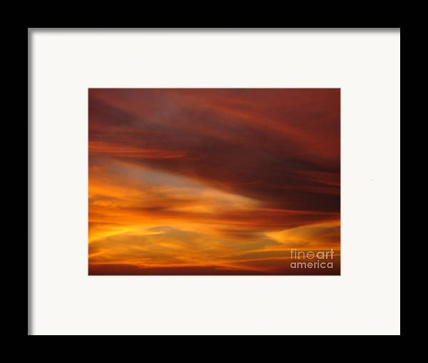 Sunset Framed Print featuring the photograph Fire In The Sky 2 by Chad Natti