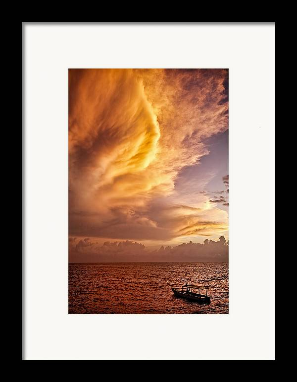 Jamaica Framed Print featuring the photograph Fire In The Sky by Dave Bowman