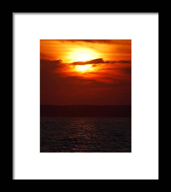 Sunset Framed Print featuring the photograph Fire in the Sky by Mark Wiley