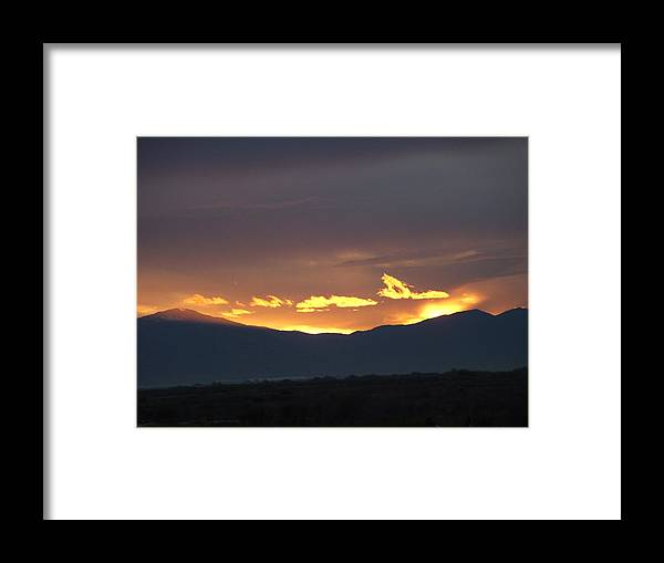 Sunset Framed Print featuring the photograph Fire In The Sky by Shari Chavira