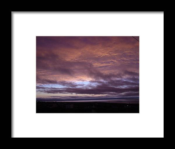 Sky Framed Print featuring the photograph Fire In The Sky by Sharon Stacey