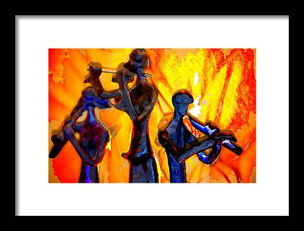 Music Framed Print featuring the photograph Fire Music by Danielle Stephenson