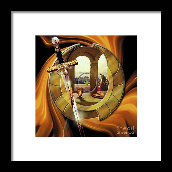 Fire Framed Print featuring the painting Fire Of Glory by Todd L Thomas