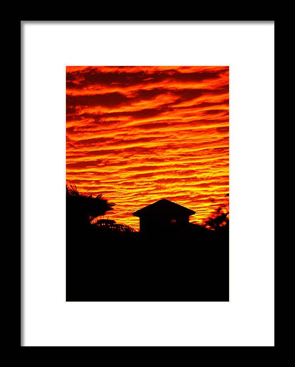 Florida Framed Print featuring the photograph Fire Sky by Florene Welebny