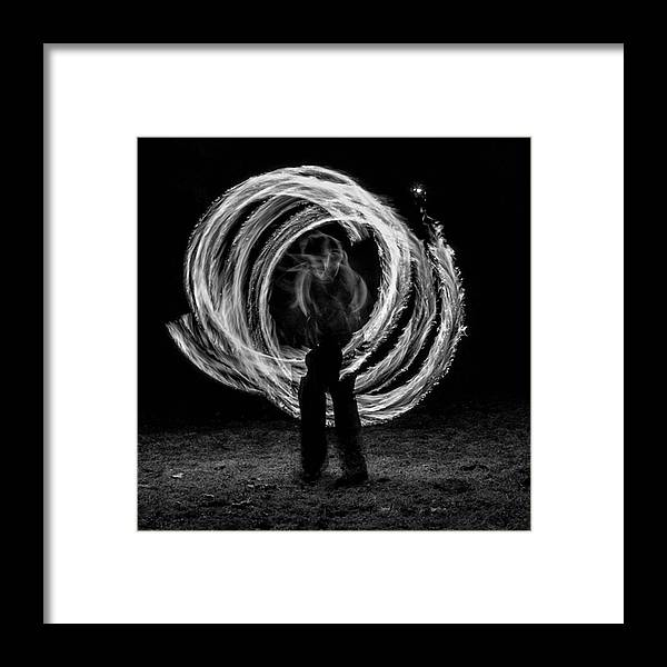 People Framed Print featuring the photograph Fire Walk With Me. Someday I Will Run by Brian Carson