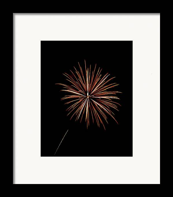 Frieworks Framed Print featuring the photograph Fire Works by Gary Langley