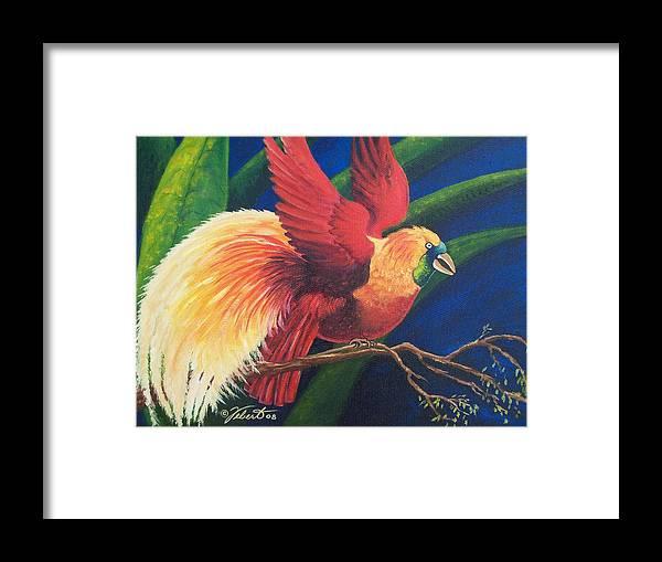 Bird Framed Print featuring the painting Firebird by Dennis Vebert
