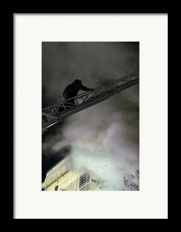 Fireman Framed Print featuring the photograph Fireman Washington Dc by Thomas Michael Corcoran