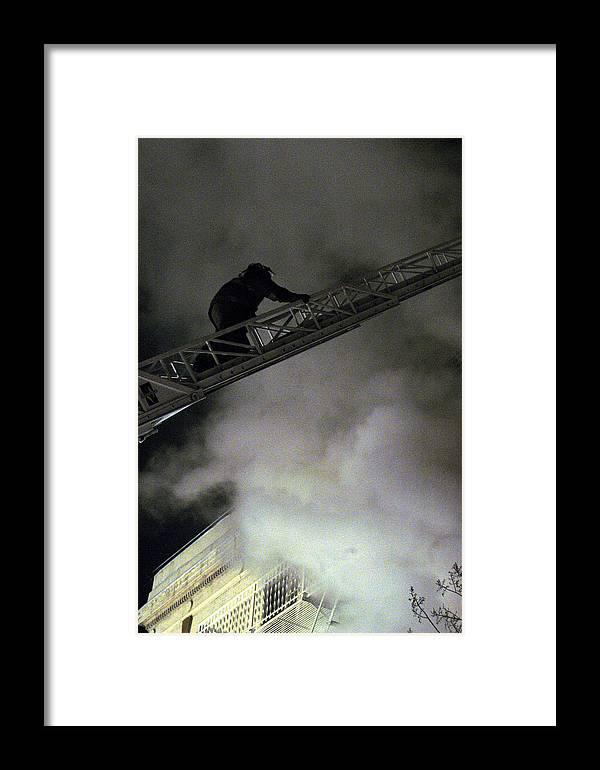 Fireman Framed Print featuring the photograph Fireman Washington Dc by Thomas Michael Corcoran