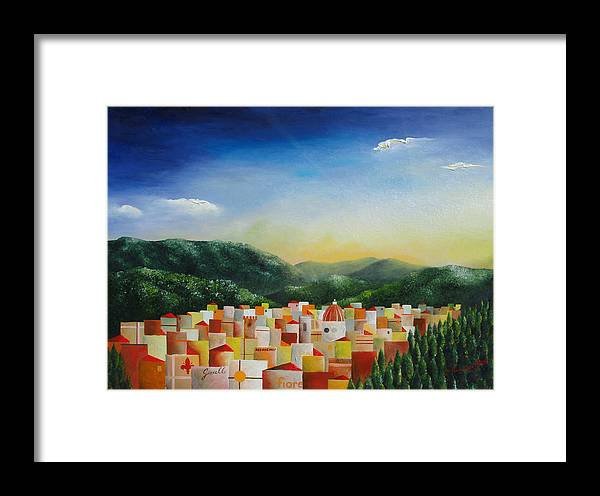 Florence Framed Print featuring the painting Firenze by Massimiliano Stanco