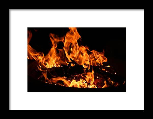 Firepit Framed Print featuring the photograph Firepit by Kathryn Meyer