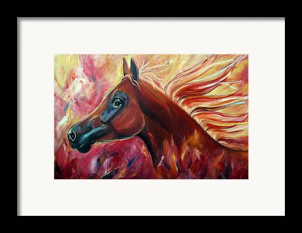 Horse Framed Print featuring the painting Firestalker by Stephanie Allison