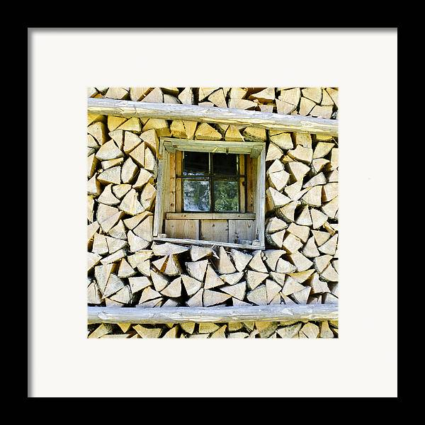 Firewood Framed Print featuring the photograph Firewood by Frank Tschakert