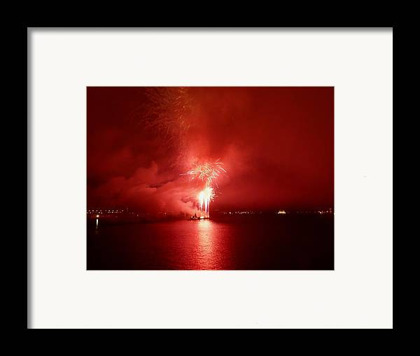 Fireworks Framed Print featuring the photograph Fireworks 17 by Kendall Eutemey