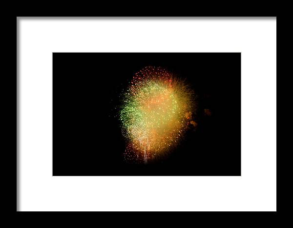 Stadium Framed Print featuring the photograph Fireworks by Brynn Ditsche