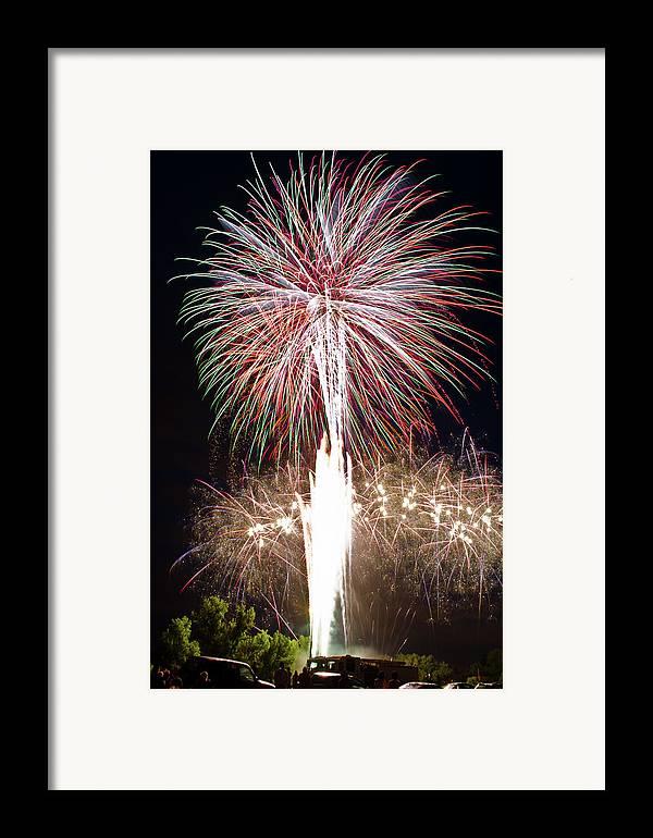 Fireworks Framed Print featuring the photograph Fireworks by Ernesto Grossmann